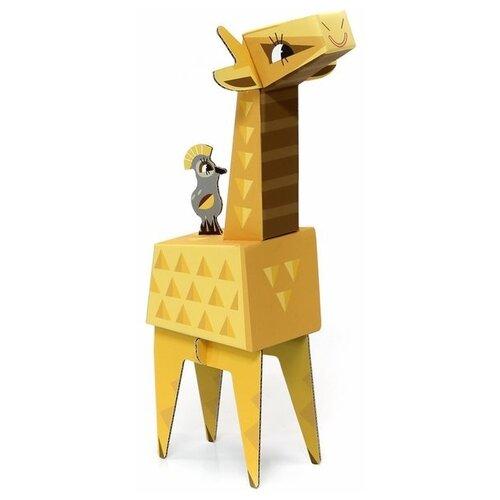 Игрушка из картона Krooom Жираф, модель Fold my Safari krooom игрушки из картона 3d пазл монстры k 701