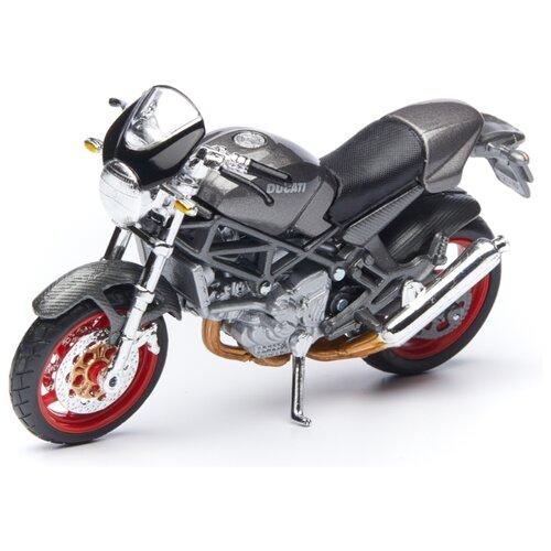 Купить Мотоцикл Maisto Ducati Monster S4 (39300/13) 1:18 серебро, Машинки и техника