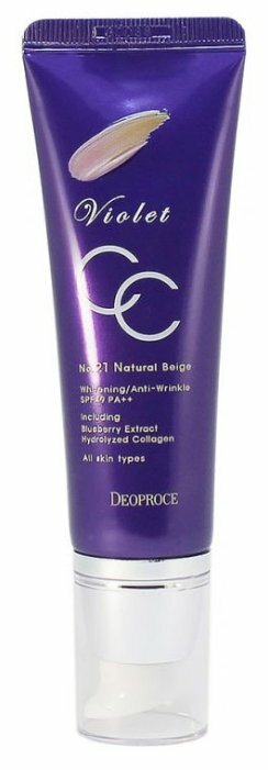 Deoproce CC крем Violet SPF 49,