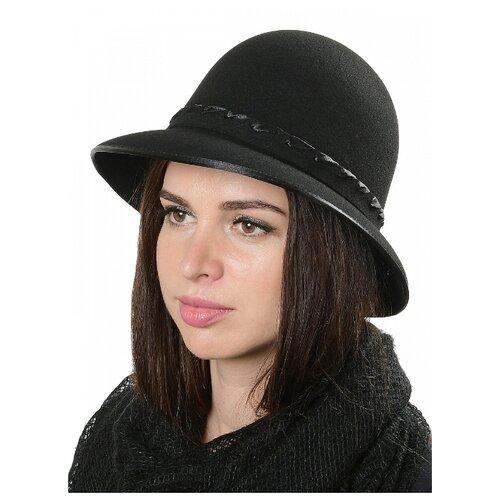 Щелково-фетр 67/4-56 Шляпа женская мод.39 цвет черный р 56