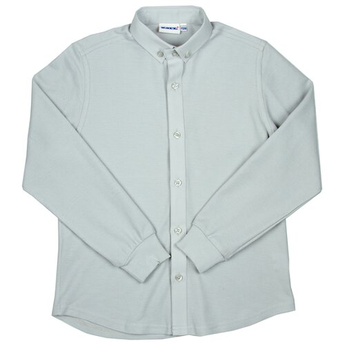 Рубашка Winkiki размер 122, светло-серыйРубашки<br>
