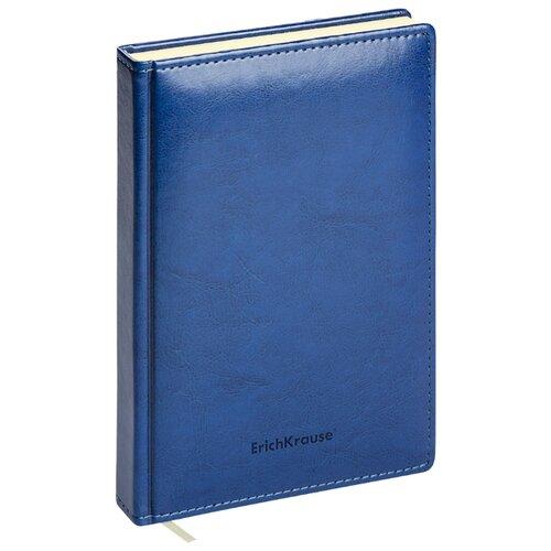 Купить Ежедневник ErichKrause Nebraska недатированный, искусственная кожа, А5, 168 листов, синий, Ежедневники, записные книжки