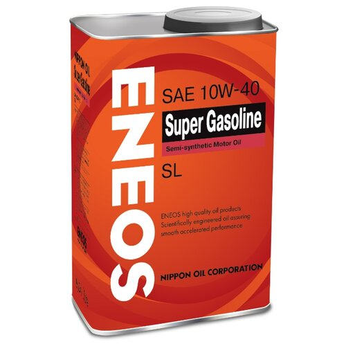 Моторное масло ENEOS Super Gasoline SL 10W-40 0.94 л 5w30 легковое масло моторное eneos super gasoline sl 5 30 200 л