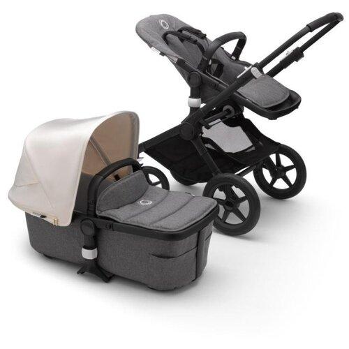 Купить Универсальная коляска Bugaboo Fox 2 complete (2 в 1) black/grey melange/fresh white, цвет шасси: черный, Коляски