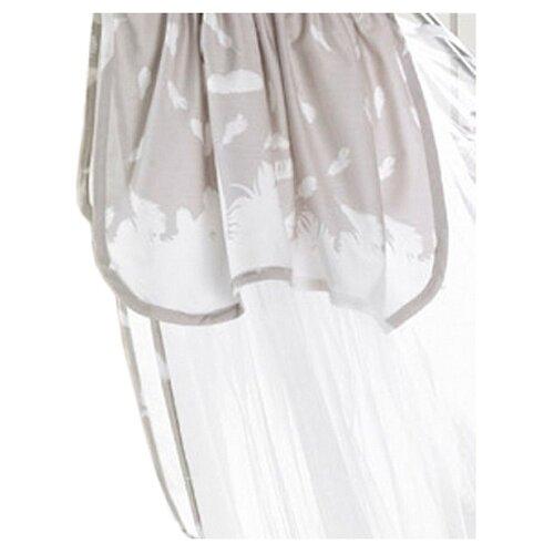 Балдахин Bebe Luvicci Fluffy белый/серый