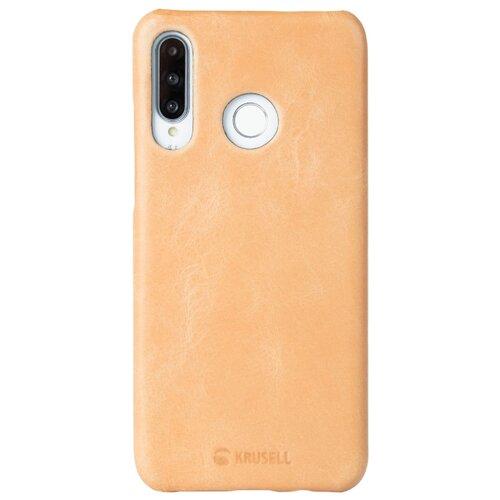 Чехол Krusell Sunne Cover для Huawei P30 Lite, кожаный бежевый