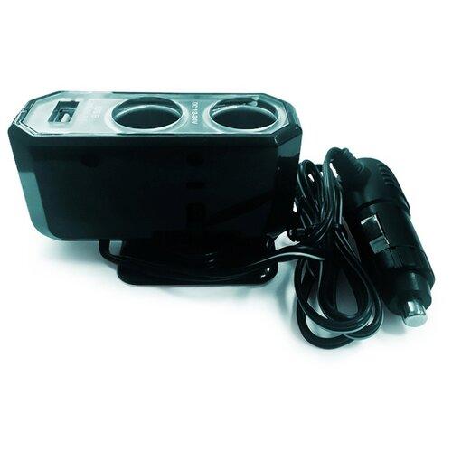 цена на Разветвитель прикуривателя AVS CS212U серебристый/черный