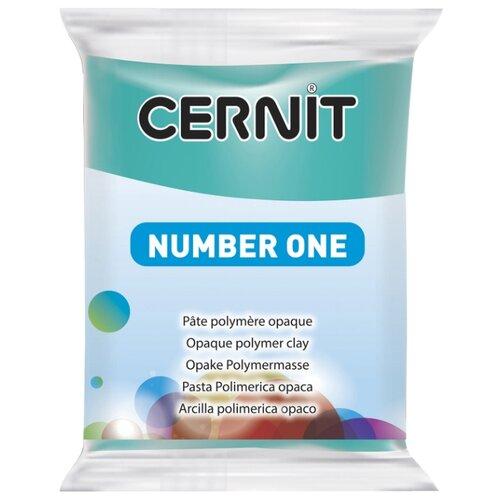 Купить Полимерная глина Cernit Number one бирюзовая (676), 56 г, Глина