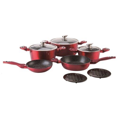 Набор посуды Bohmann BH-1019-10 10 пр. красный