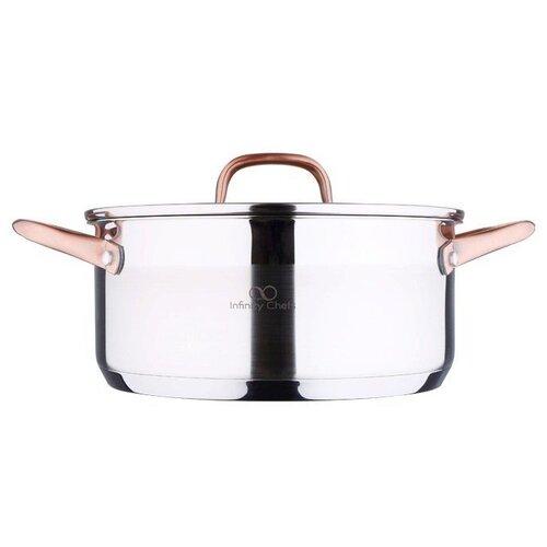 Кастрюля Bergner Infinity Chefs BGIC-3501 2,3 л, серебристый/золотистый ковш bergner bg 6239 cp pandora