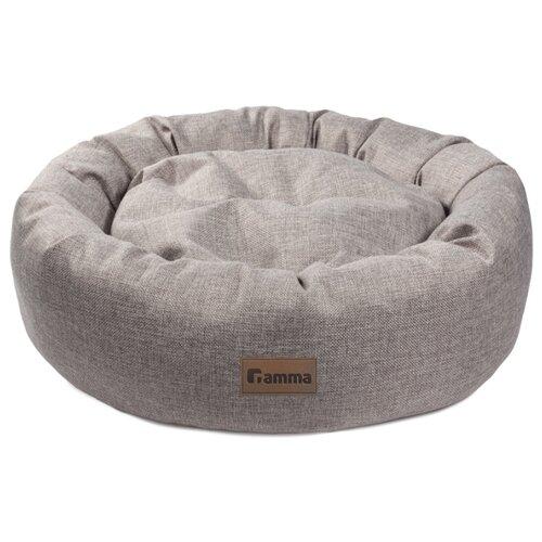 Лежак для собак и кошек Гамма Кижи овальная 50х50х16 см серый
