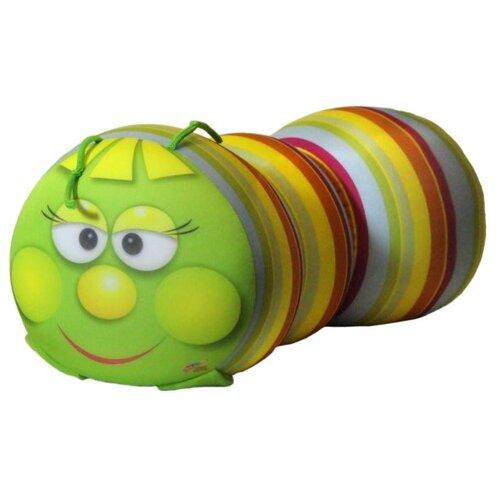 Игрушка-антистресс Штучки, к которым тянутся ручки Гусеница зеленая полоска 18 смМягкие игрушки<br>