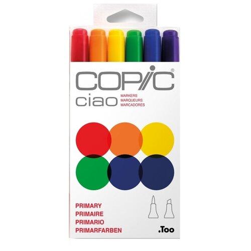 Купить COPIC набор маркеров Ciao Primary (H22075-661), 6 шт., Фломастеры