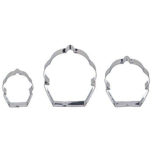 Форма для печенья стальная Attribute Shapes ABM203, 3 шт.