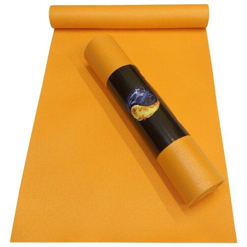 Коврик (ДхШхТ) 173х60х0.45 см AKO YOGA Yin-Yang Studio оранжевый однотонный