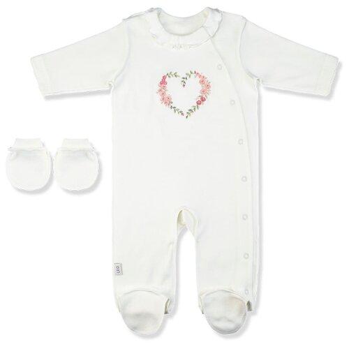 Комплект одежды LEO размер 56, молочный комбинезон leo размер 56 молочный