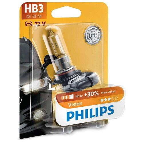 цена на Лампа автомобильная галогенная Philips Vision 9005PRB1 HB3 65W 1 шт.