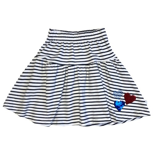 Юбка Sweet Berry размер 122, белый-синийЮбки<br>