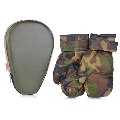 Лапа боксерская Belon 27*18,5*4 см, с перчатками, военный (НБ-017-В)