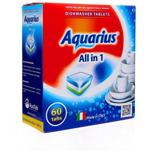 AQUARIUS All in 1 таблетки для посудомоечной машины, 60 шт. topperr 10 в 1 таблетки для посудомоечной машины 60 шт