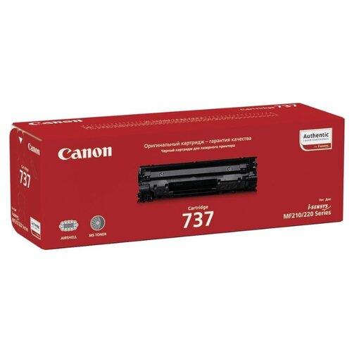 Картридж ориг. Canon 737 черный для Canon MF211/212w/216n/217w/226dn/229dw (2400стр), цена за штуку, 213137