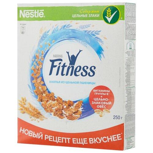 Готовый завтрак Nestle Fitness хлопья из цельной пшеницы, коробка, 250 г nestle fitness хлопья с темным шоколадом готовый завтрак 275 г
