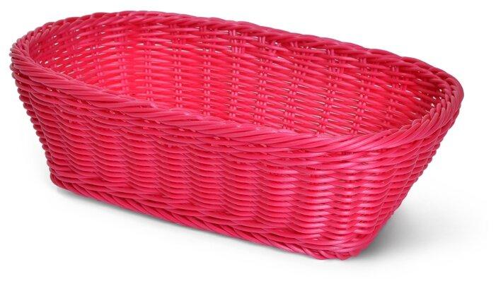 Корзины для продуктов Fissman Плетеная корзинка прямоугольная 31x22x9 см (пластик)