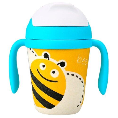 Поильник Eco Baby Пчёлка 300 мл желтый/голубой цена 2017