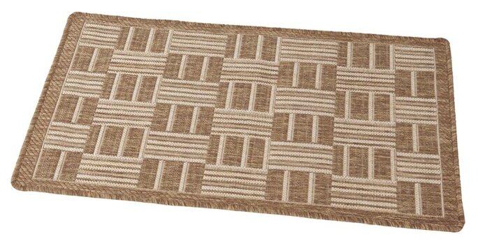 Придверный коврик RemiLing Джут, размер: 0.8х0.5 м, коричневый/бежевый