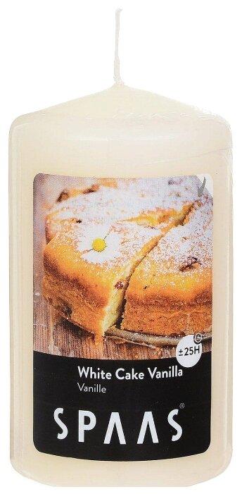 Купить Свеча Spaas White Cake Vanilla столбик бежевый по низкой цене с доставкой из Яндекс.Маркета (бывший Беру)