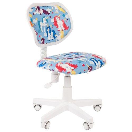 Компьютерное кресло Chairman Kids 106 детское, обивка: текстиль, цвет: единороги компьютерное кресло chairman kids 106 детское обивка текстиль цвет автобусы