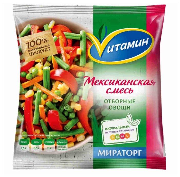 Vитамин Замороженная овощная смесь Мексиканская 400 г