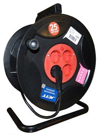 Jett Электрический удлинитель на катушке 4 гн. с заземлением 25 м (ПВС 3x1,5)