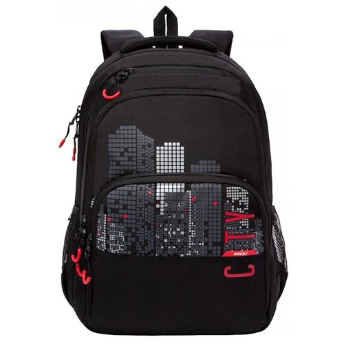 Купить Grizzly Рюкзак (RU-130-4), черный/красный, Рюкзаки, ранцы