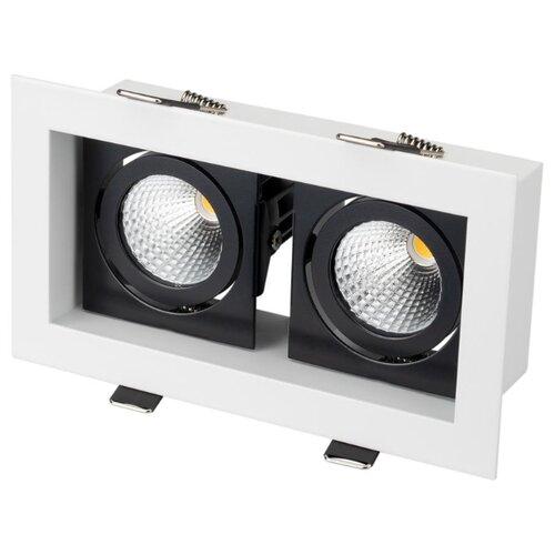 цена на Встраиваемый светильник Arlight CL-KARDAN-S180x102-2x9W Day (WH-BK, 38 deg)
