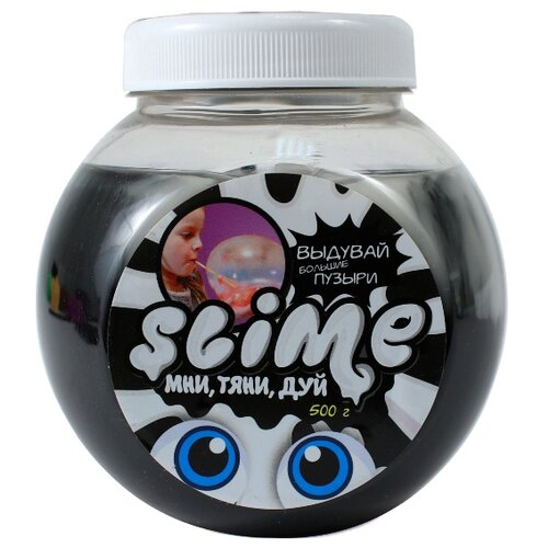 Жвачка для рук SLIME Mega Mix черный + белый, 500 г (S500-4)