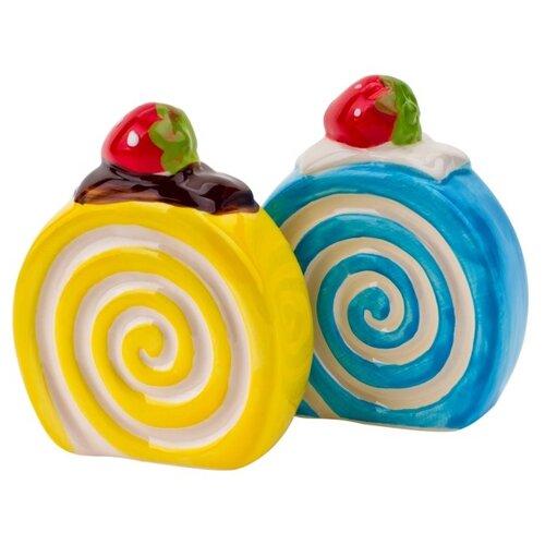 ELFF ceramics Набор солонка и перечница Бисквит желтый/голубой кружка 280 мл elff ceramics