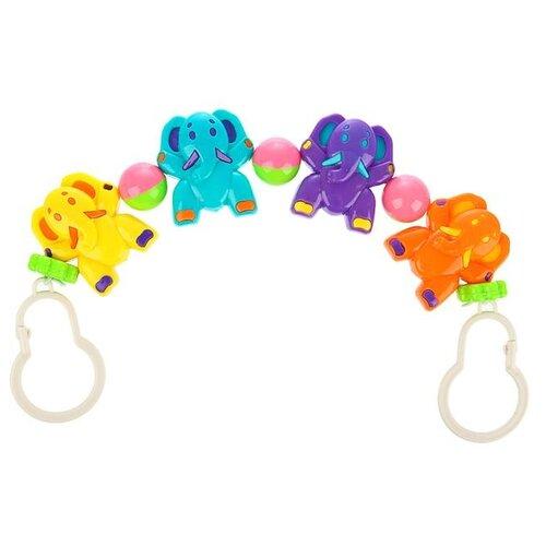 Купить Растяжка Крошка Я Слонята (3601770) желтый/голубой/фиолетовый, Подвески
