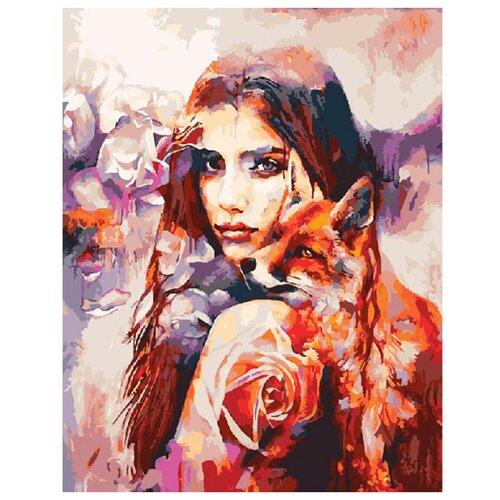 Купить ВанГогВоМне Картина по номерам Кицуне , 40х50 см (ZX 20391), Картины по номерам и контурам