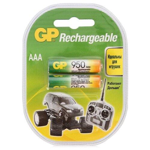цена на Аккумулятор Ni-Mh 950 мА·ч GP Rechargeable 950 Series AAA 2 шт блистер