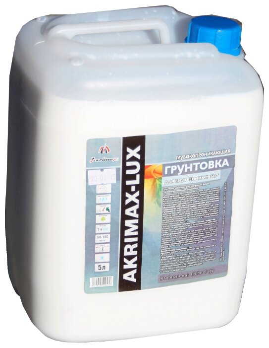 Грунтовка Akrimax Для внутренних работ глубокопроникающая 5 кг