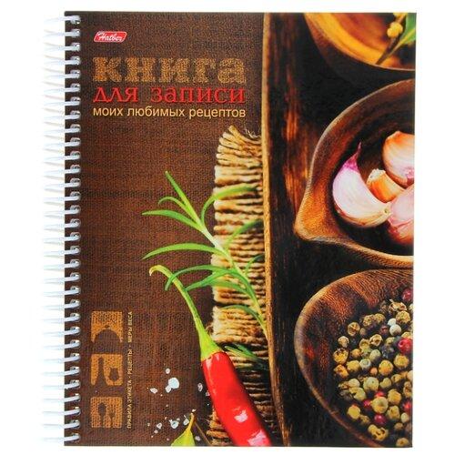 Купить Записная книжка Hatber для кулинарных рецептов Любимые рецепты, А5, 80 листов, коричневый, Ежедневники, записные книжки