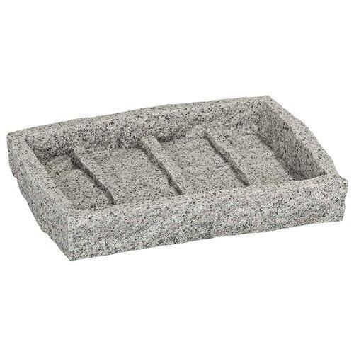 Мыльница Wenko Granite серый мыльница wenko bosio 11 5 5 13 см стальной
