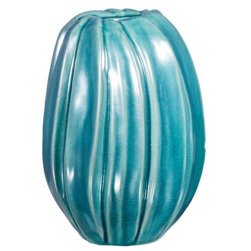 Ваза Home Philosophy Uma (F51718), бирюзовый home philosophy ваза кувшин melanie цвет зеленый 16х16х19 см