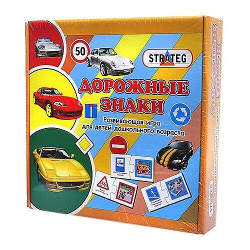 Настольная игра STRATEG Дорожные знаки