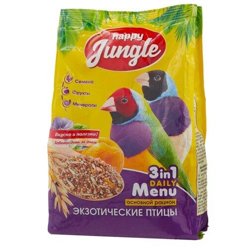 Happy Jungle Корм Daily Menu для экзотических птиц 500 г