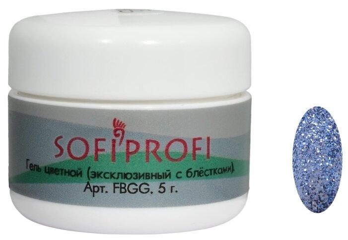 Краска Sofiprofi гель цветной эксклюзивный с блёстками