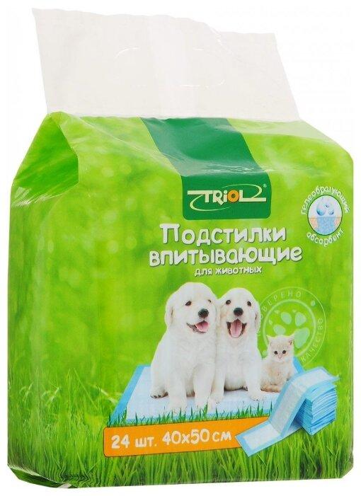 Пеленки для собак впитывающие Triol 30551001/30551002 50х40 см