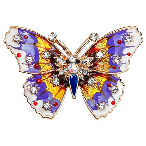 Queen fair Брошь Бабочка мозаика малая 1705388