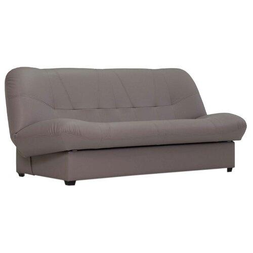 Диван Ладья Блюз размер: 188х93 см, спальное место: 180х120 см, обивка: искусственная кожа, серый Domus smoky диван книжка ладья джаз серый